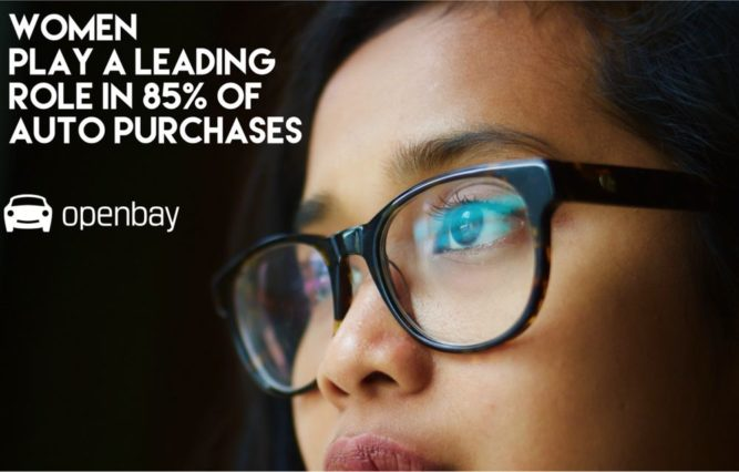 Openbay Young Woman Glasses Woman Play a Roll in 85% of Auto Purchase Decisions